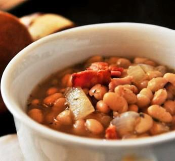 ... Carb Eating Made Easy...: White Bean Soup with my favorite… Bacon